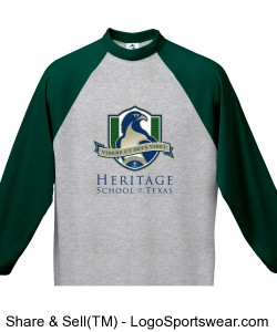 Adult 3/4 Sleeve Raglan T-Shirt (Green) Design Zoom