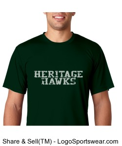 Adult Heritage Hawks Sport Tee, Green Design Zoom