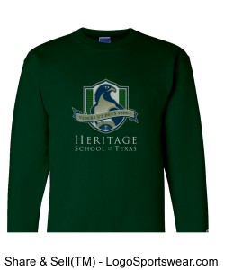 Adult Fleece Sweatshirt (Green) Design Zoom