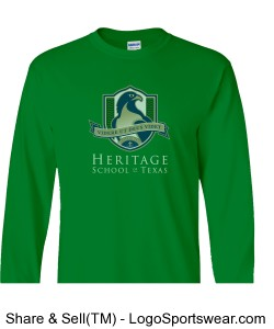 Adult/Unisex Long-Sleeve Shirt (Green) Design Zoom